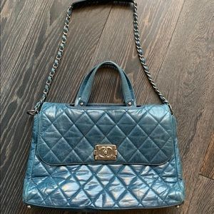 Chanel Bag Made from Old Aged  Leather